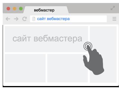 Клик на сайте вебмастера вызывает срабатывание скрипта кликандера