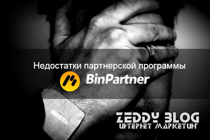 Недостатки Binpartner